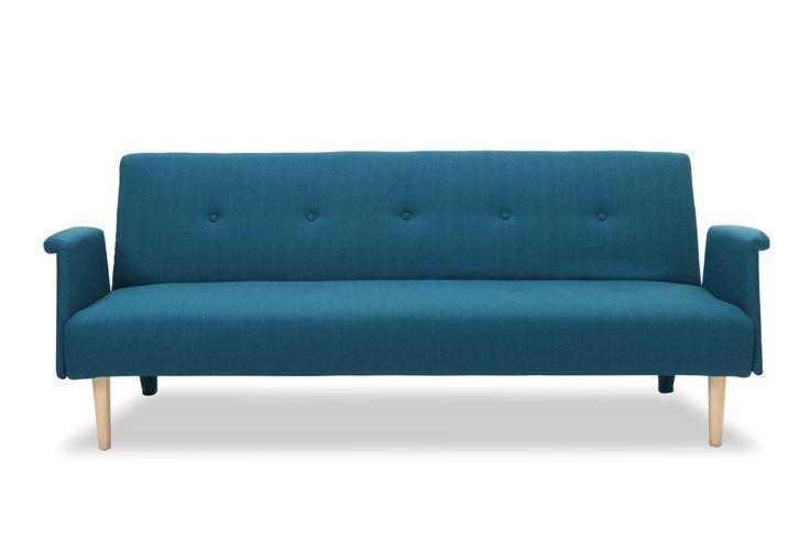 Canapé design convertible bleu OSCAR - Zoom