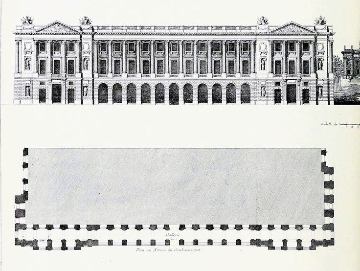 Elevation D Un Plan Archi : Elevation and plan of the hôtel de crillon on place