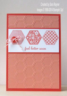 Six sided get well card using Stampin' Up! supplies. #stampinup More