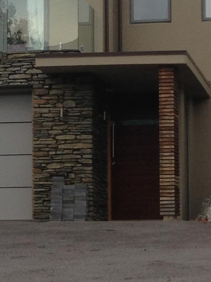 Door with glass slot