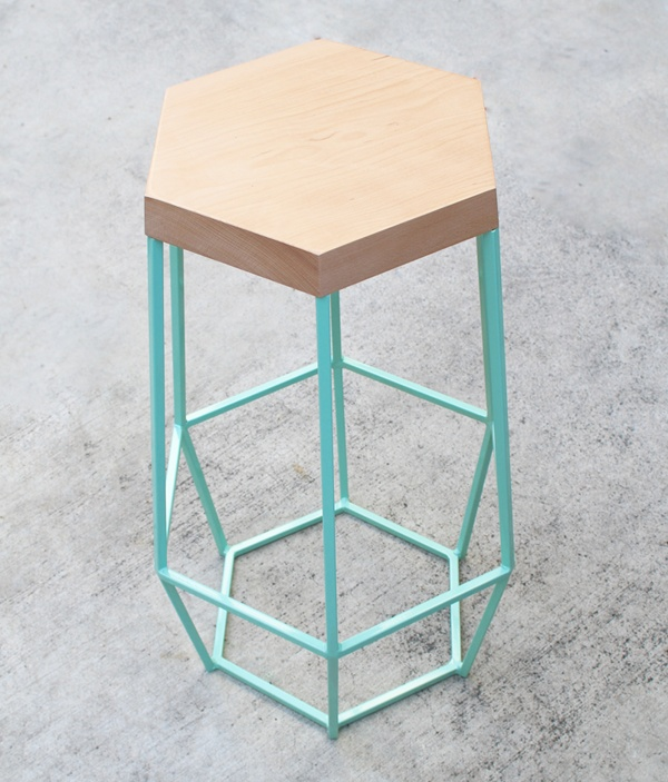 Timber & Ore barstool by Joseph Pitruzelli of WoodSmithe