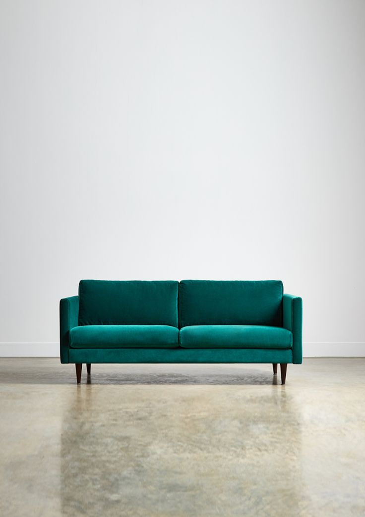 The TIVOLI two seater sofa - in Azure velvet - Swoon Editions - swooneditions.com