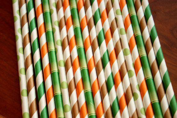 pailles thème jungle un assortiment de ce qui suit : Si vous souhaitez des couleurs spécifiques, sil vous plaît me laisser une note. marron, orange, pois verts pomme, vert bambou 7 3/4 de long sécurité alimentaire & F.D.A. respectueux de lenvironnement biodégradables Jai beaucoup de couleurs à choisir... vous souhaitez une couleur différente ? plus ? moins ? Envoyer un message Just moi, je serai heureux de mettre sur pied un paquet de parti pour vous...