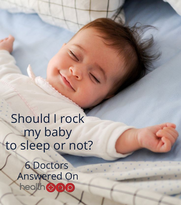 Is it okay to rock your baby to sleep too frequently?  Click to find out!