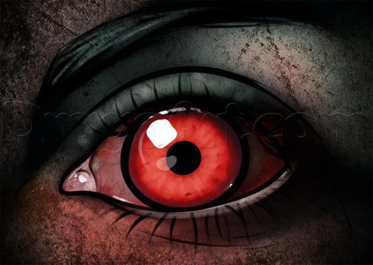 Страшные картинки с красными глазами