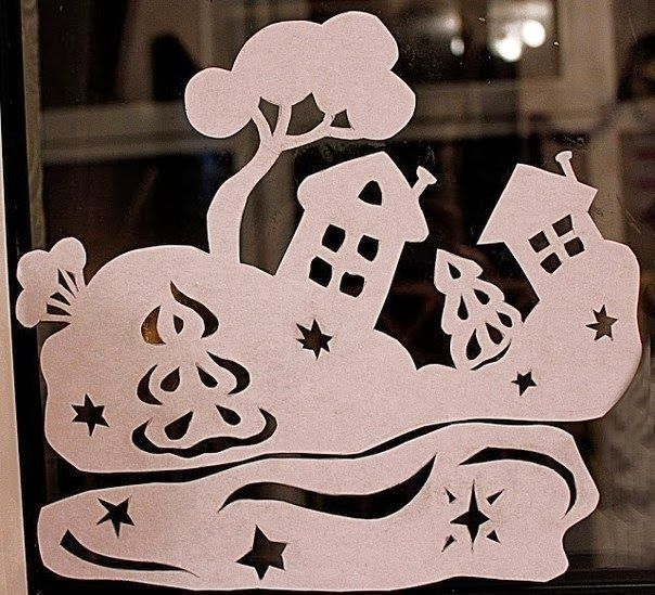 Christmas Window Stickers Template