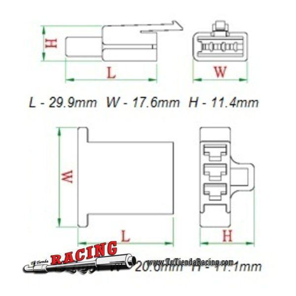 5X Juegos de Conector Completo de 3 Pines 2.8mm Para Cableado de Coche Moto - 8,89€ - TUTIENDARACING - ENVÍO GRATUITO EN TODAS TUS COMPRAS