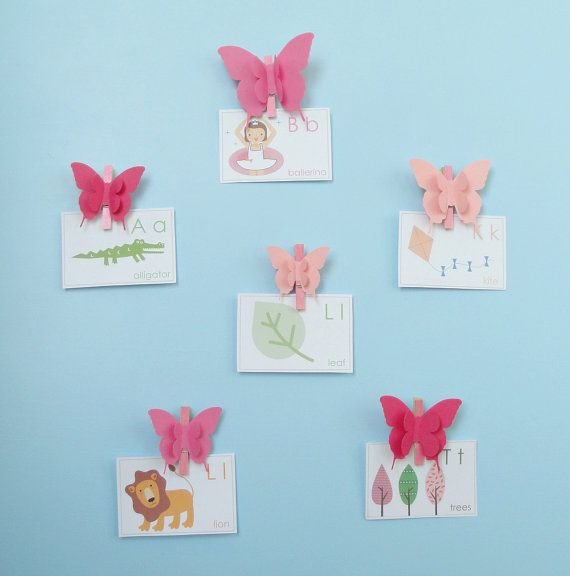 3D Butterfly Photo Display Clips/Art Display от goshandgolly