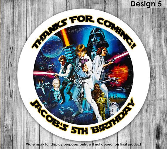 Star Wars Treat Bag Labels PRINTABLE Star by KidsPartyPrintables