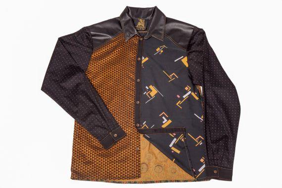 Mens Shirt Long Sleeve Shirt Mens Dress Shirt by PrinceandDyer