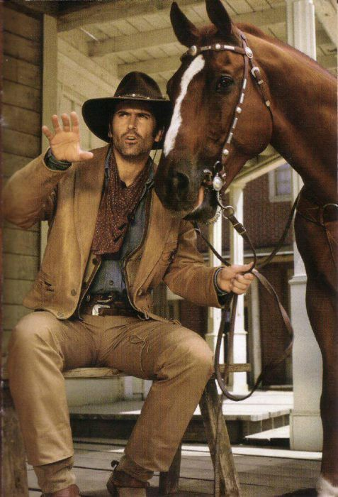 The Adventures of Brisco County, Jr--Bruce Campbell as Brisco, w/Comet the Wonder Horse