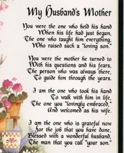 For My Sweet Mother N Law Treasures Of My Heart Pinterest