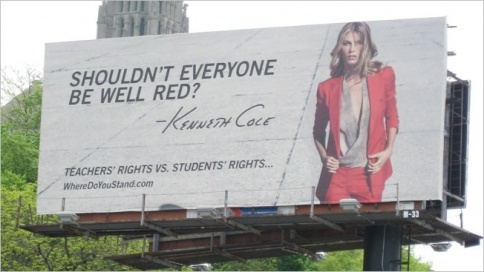 Kenneth Cole Pulls NYC Billboard Critical of Teachers - http://www.adweek.com/adfreak/kenneth-cole-pulls-nyc-billboard-critical-teachers-139973Cole Ripped, Teachers Union, Kenneth Cole, Billboard Critical, Cole Pulled, Hurts Ads, Billboards Hoarding Design, Cole Ads Include, Cities Billboard