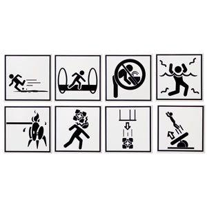 Portal 2 Warning Sign Coasters! Amazing!