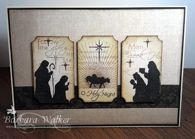The Buzz: Merry Christmas! Featuring Nativity Silhouettes and Nativity Silhouettes Additions from #Papertrey Ink. CASE of Betsy Veldman's card.