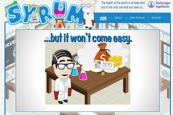 """Pharma Marketing Blog: Pharma & Fun, Not Oxymoronic? Here Comes Gamification! Syrum has been in development for almost a year - it certainly """"won't come easy"""" for Boehringer Ingelheim, which is developing the game and first announced int in the Fall of 2011."""