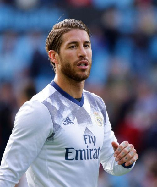 Sergio Ramos during the La Liga Santander match between Celta de Vigo and Real Madrid at Balaidos Stadium.
