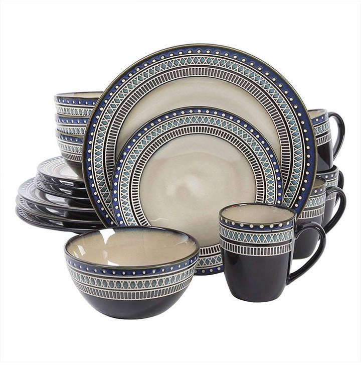 Althea 16 Piece Stoneware Dinnerware Set Conjuntos De Louca
