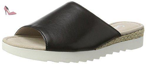 Gabor Shoes Comfort, Sandales Bout Ouvert Femme, Noir (Schwarz Jute), 38 EU - Chaussures gabor (*Partner-Link)
