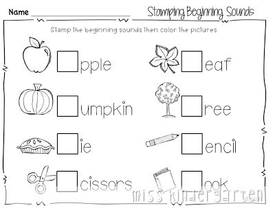 print and go printables  the kids could use these to sound out words and put the first letter of the words when they hear the sound.  This can help students work on their letters and sounds