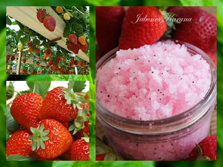 Epsom salt body scrub with strawberry