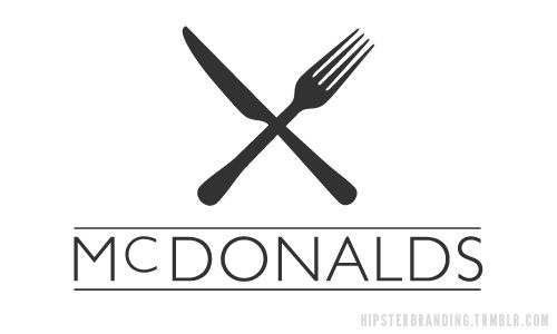 Hipster McDonalds logo