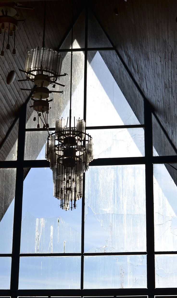 Chandelier from abadoned hotel in Brno.