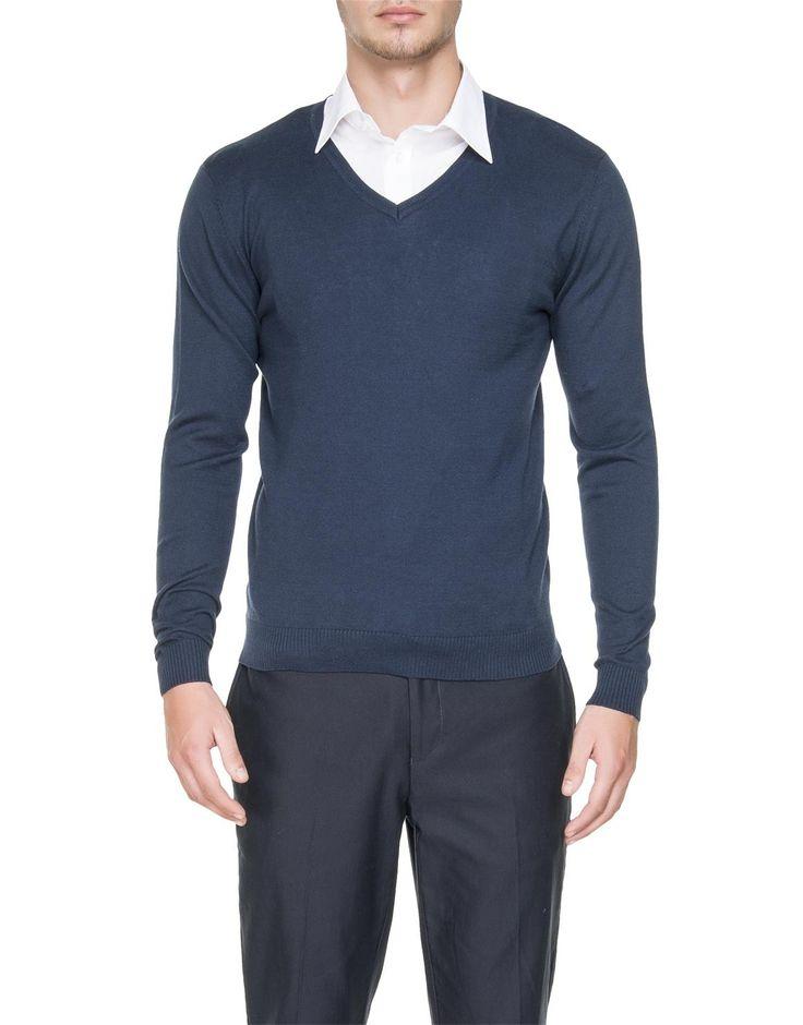 Knit V-Neck Pullover