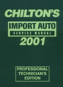 1997 - 2001 Chilton's Import Auto Service Manual, Shop Edition