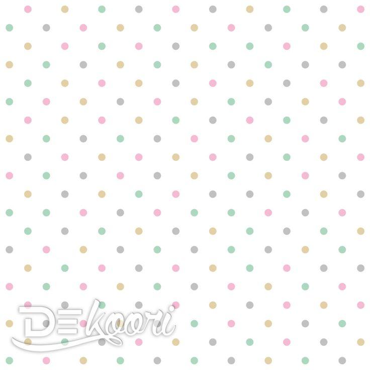 tapeta-w-kolorowe-kropki-groszki-2cm-polka-dots-scienna-pastelowa-wzor-dekoori.pl