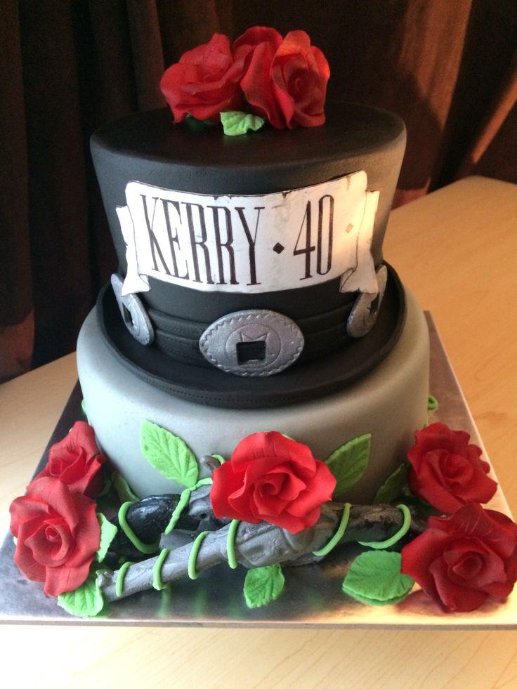 Guns n roses themed cake