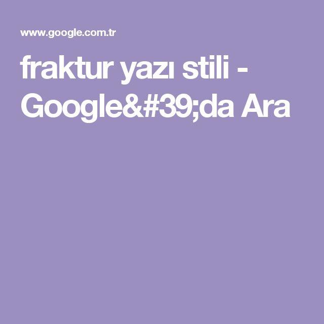 fraktur yazı stili - Google'da Ara