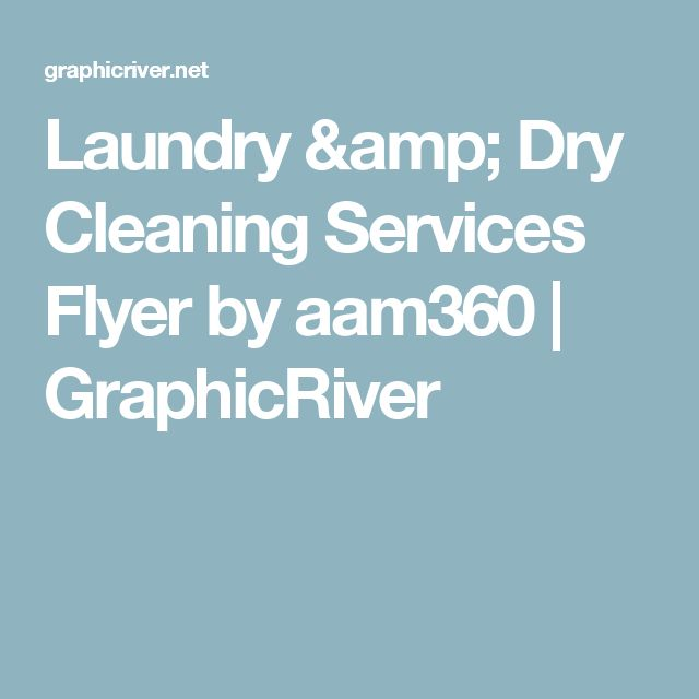 Laundry & Dry Cleaning Services Flyer by aam360 | GraphicRiver