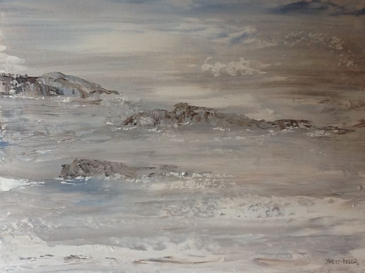 Landskape by Britt-Helen.  I painted this with knife and only three colours.