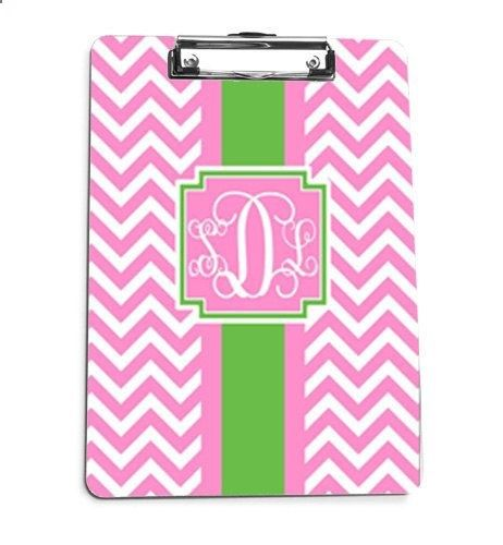 Monogrammed Clipboard - Personalized Clip Board - Preppy - CHEVRON CHIC on Etsy, $28.00