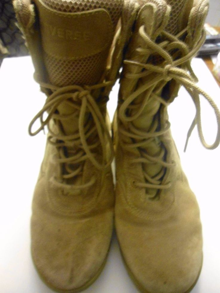 Men's Converse Military Style Desert Tan Lace Up WORK Boots C9897 size 11 1/2 M #Converse #Boots