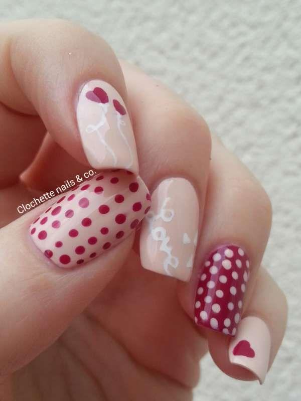 Amour dans l'air.15 idées de nail arts pour la Saint-Valentin