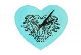 Native Filigree Heart Clock