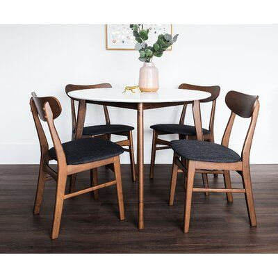Corrigan Studio Immanuel Round 5 Piece Dining Set Wayfair In