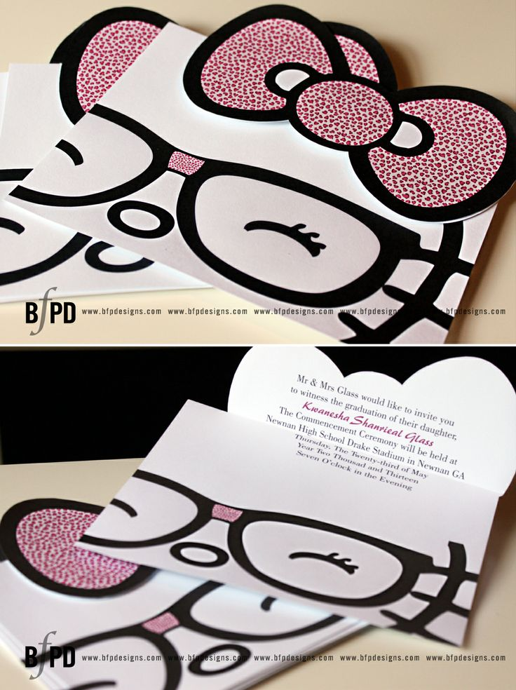 Graduation Inivtations | Hello Kitty Invitations | Invitations