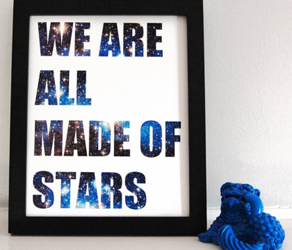 This gives me hope somehow when I think about the people I deeply miss :: Stars Print