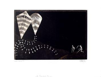 Original signed etching by Bo Lars - Captive Kites