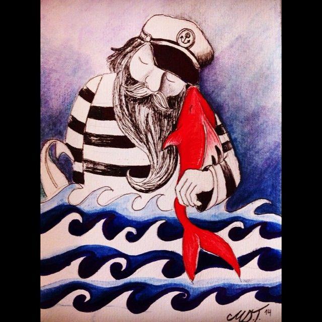 sailor ,illustration art,captain's love 1  at MEVCE MARIN art & decoration   https://www.facebook.com/mevcemarin?fref=nf