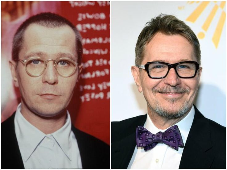 Gary Oldman`s eyes color - blue and hair color - light brown