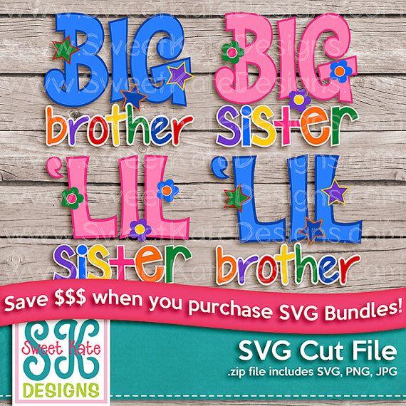 Grand Lil frère soeur SVG Bundle JPG PNG par SKDSweetKateDesigns