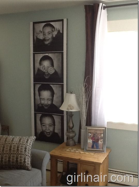 How to make a giant photo strip canvas, for about 8 bucks!