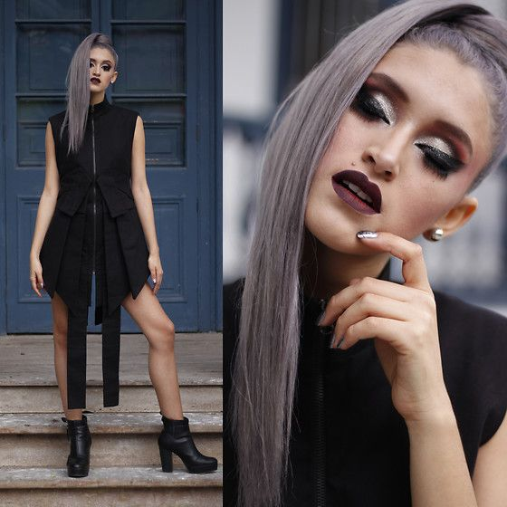 Get this look: http://lb.nu/look/8495585  More looks by Andrea Chavez: http://lb.nu/delilacblog  Items in this look:  Omar Valladolid Vestido Negro   #artistic #edgy #minimal #allblack #dress #grunge #oriental #ninja #bohorock