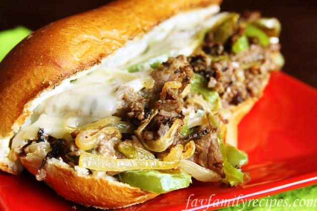 philly cheesesteak JUST LIKE AT THE FAIR!!!!!!    I added mushrooms  in with the onion & bell pepper. LOVE IT!