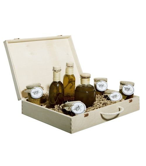 Olive Tree Gourmet Basket - entire gift box