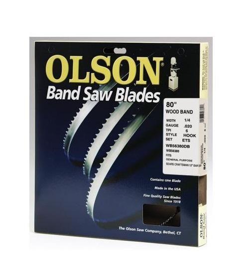 """Olson Saw WB56380DB Wood Band Saw Blade, 1/4"""" x 80"""" #woodworkingtools"""